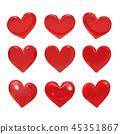 心 红色 红 45351867