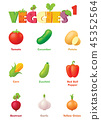 Vector vegetables icon set 45352564