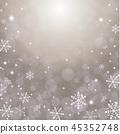 背景銀色閃爍雪花 45352748