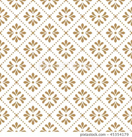Flower geometric pattern. Seamless background.  45354179