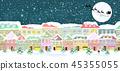 城镇 雪 圣诞节 45355055