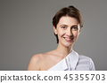Pretty smiling caucasian woman portrait 45355703