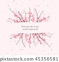 branch sakura vector 45356581