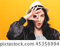 Young woman with ok gesture 45356994