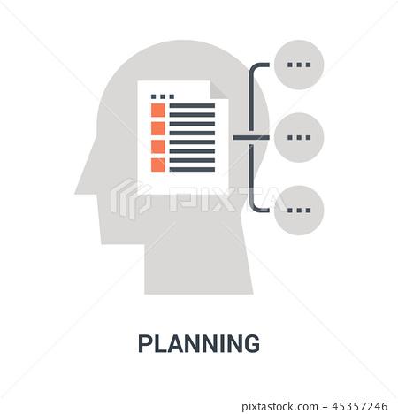 planning icon concept 45357246