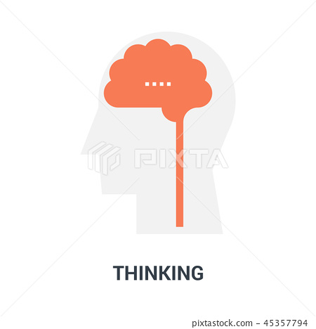 thinking icon concept 45357794