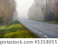 Misty road in the morning 45358055