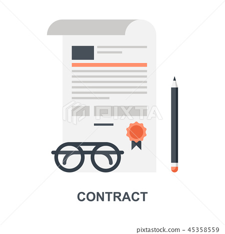 Contract icon concept 45358559