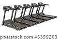 Treadmills, 3D rendering 45359203