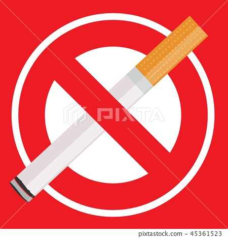 no smoking sign with cigarette. 45361523