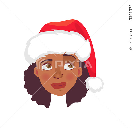 face of African woman in hat 45361575