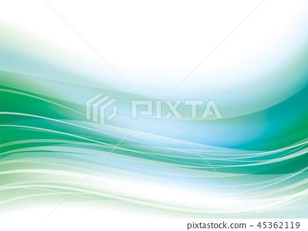 波浪線摘要曲線背景綠色 45362119