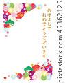 新年的卡片模板 45362125