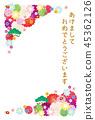 เทมเพลตการ์ดปีใหม่ 45362126