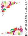 新年的卡片模板 45362127