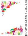 新年的卡片模板 45362128