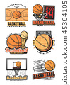 Basketball game, team vector icons 45364105
