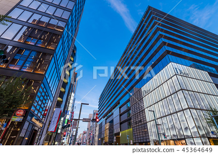 Evening view of Ginza 6-chome 45364649