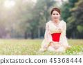 Asian young girl kimono 45368444