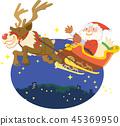 산타 클로스와 순록 45369950