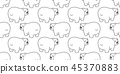 곰, 벡터, 북극곰 45370883