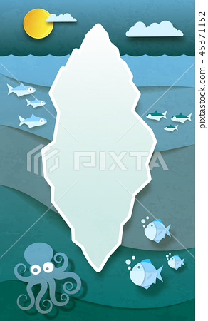 Paper iceberg in Antarctica deep cold ocean  45371152