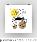 cup, coffee, vector 45371170