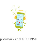 phone, humanized, headphones 45371958
