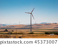 Wind turbines in the plain 45373007