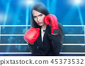 Woman with boxing gloves 45373532