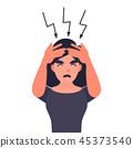 頭疼 頭痛 女人 45373540