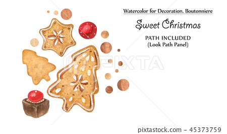 Sweet vignettes with gingerbreads and chocolates 45373759