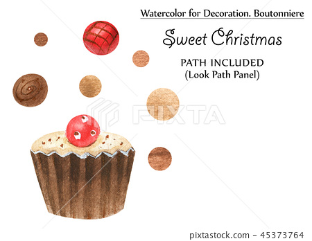 Sweet vignettes with chocolates and golden dots 45373764