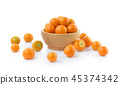 Cape gooseberry (physalis)in wooden cups white bac 45374342