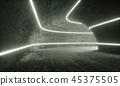Old Concrete Tunnel Illuminated 45375505