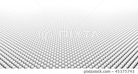 White Balls Transition to White Color Background. 45375743