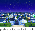 City residential area night view hill top christmas 45375782