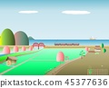 시골 春桜海 기관차 45377636
