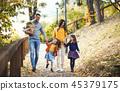 family, happy, park 45379175
