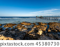 Red Sea Egypt -Pier above the Coral Reef and Beach 45380730