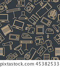 Seamless pattern from a set of household appliance 45382533
