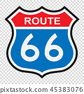 US route 66 sign 45383076