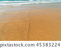 Soft Ocean Waves On Beach 45383224