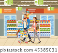 shopping supermarket cart 45385031