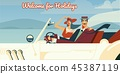 Welcome for holidays retro illustration 45387119