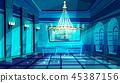 Ballroom night hall illustration 45387156