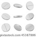 Realistic medical pills 45387886