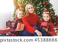 christmas, family, child 45388666