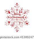 크리스마스, 성탄절, 벡터 45389247