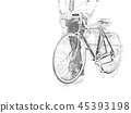 abstract business man bicycle on street road. 45393198
